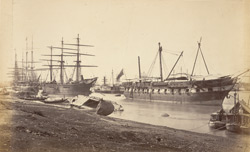 The 'Blenheim' after the hurricane Novr. 1867 [Calcutta]